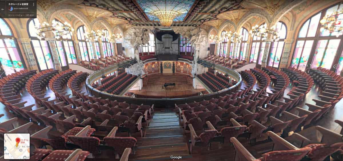 カタルーニャ音楽堂内部