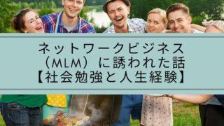 ネットワークビジネス(MLM)に誘われた話【社会勉強と人生経験】